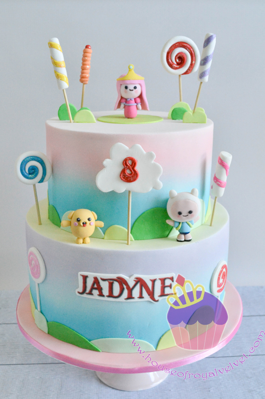 Candy themed girls birthday cake