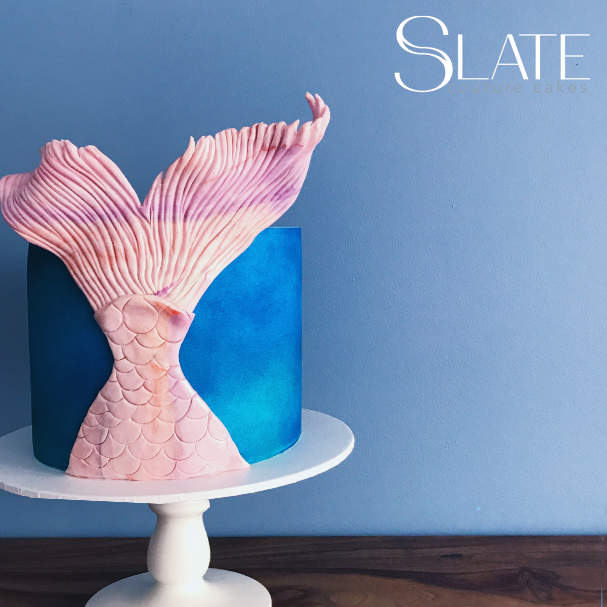 Mermaid tale blue mini cake