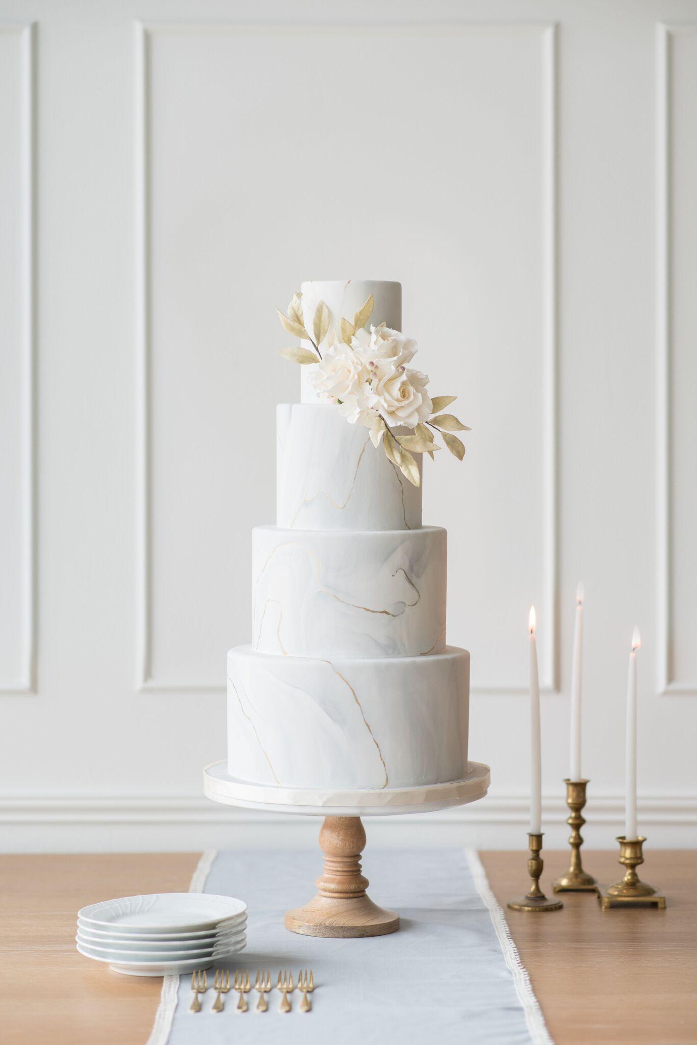 Gray  marble wedding