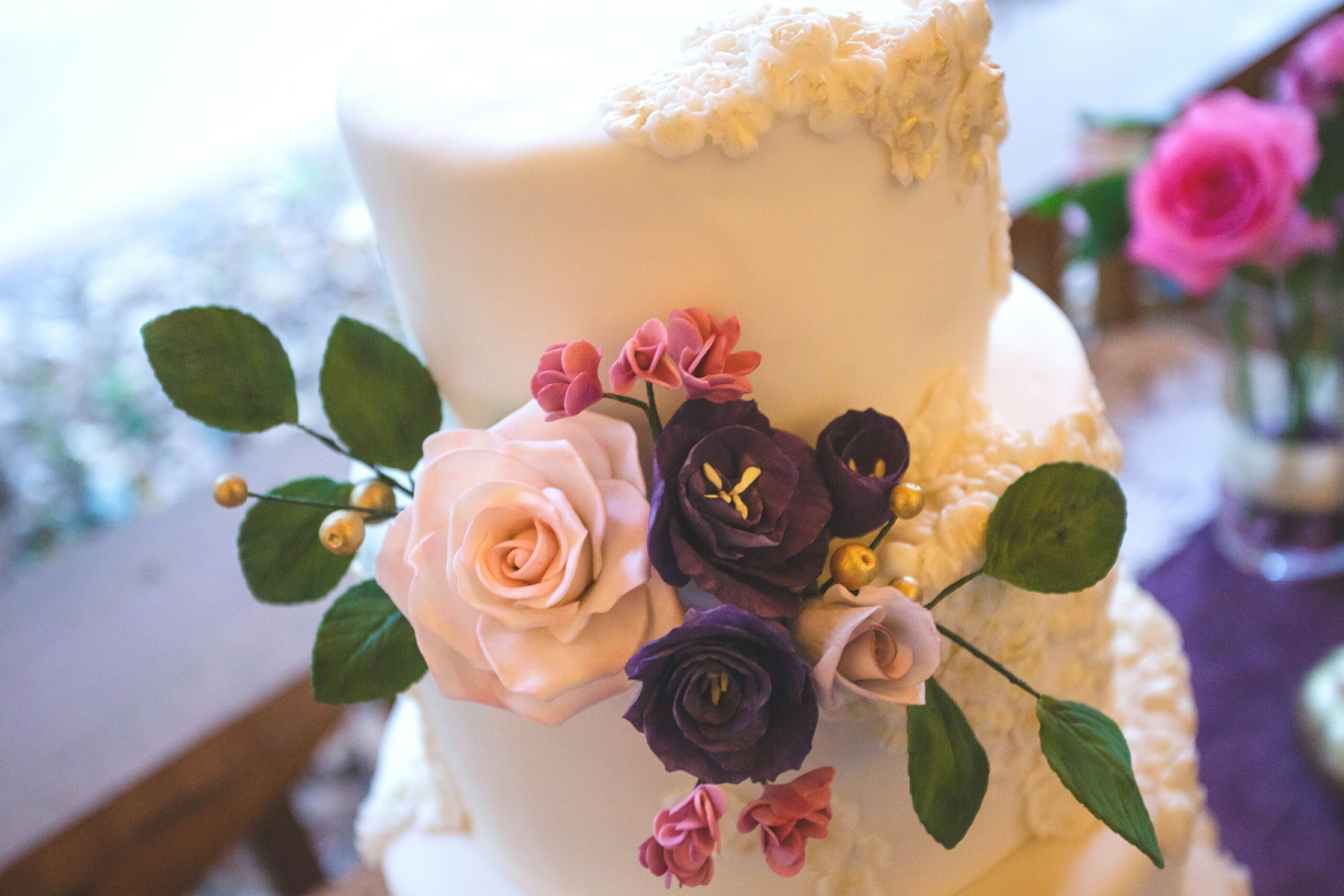 White Wedding with Sugar Flowers