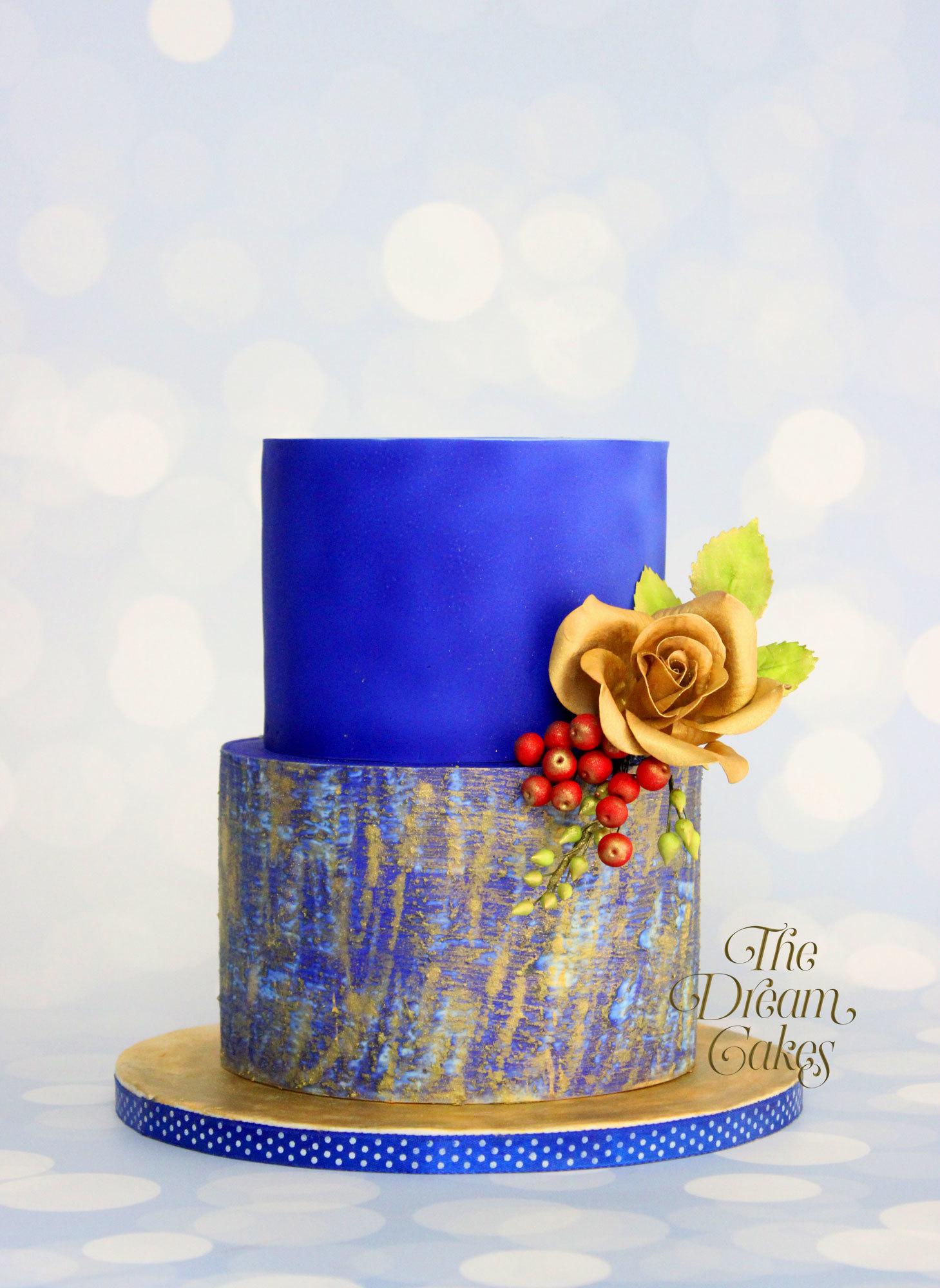 Blue watercolor wedding