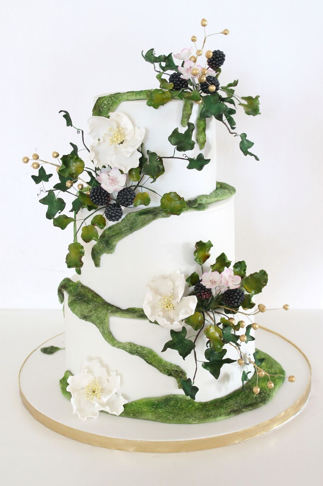 Mossy white with green wedding