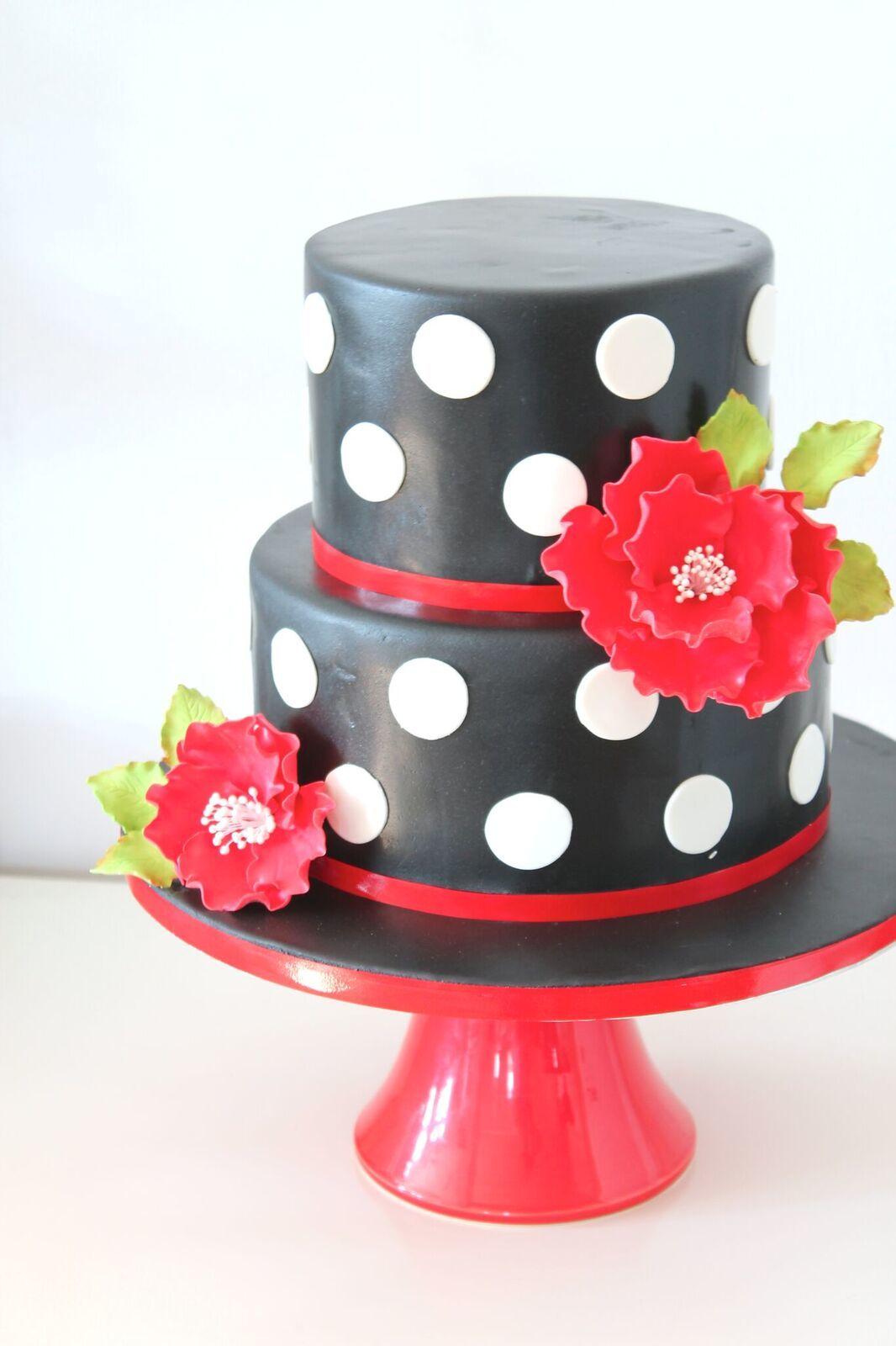 Black and white polka dot wedding