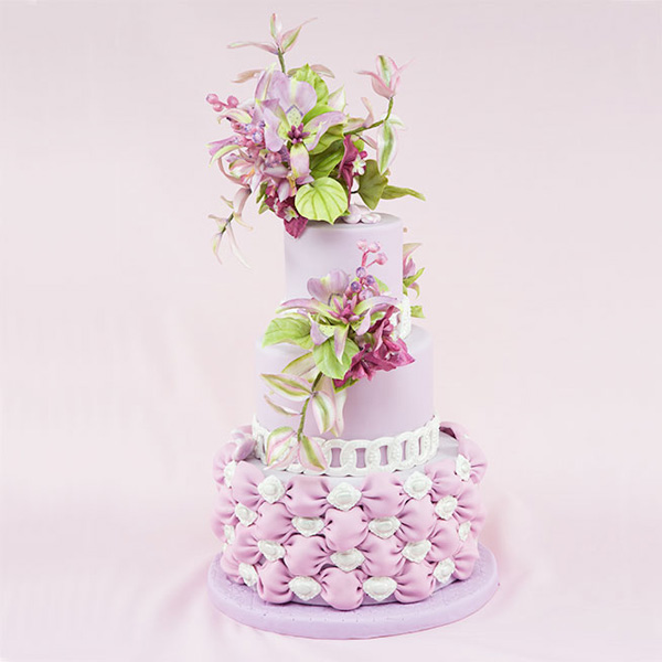 all Lavender Wedding cake