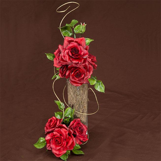 Red Sugar Flowers