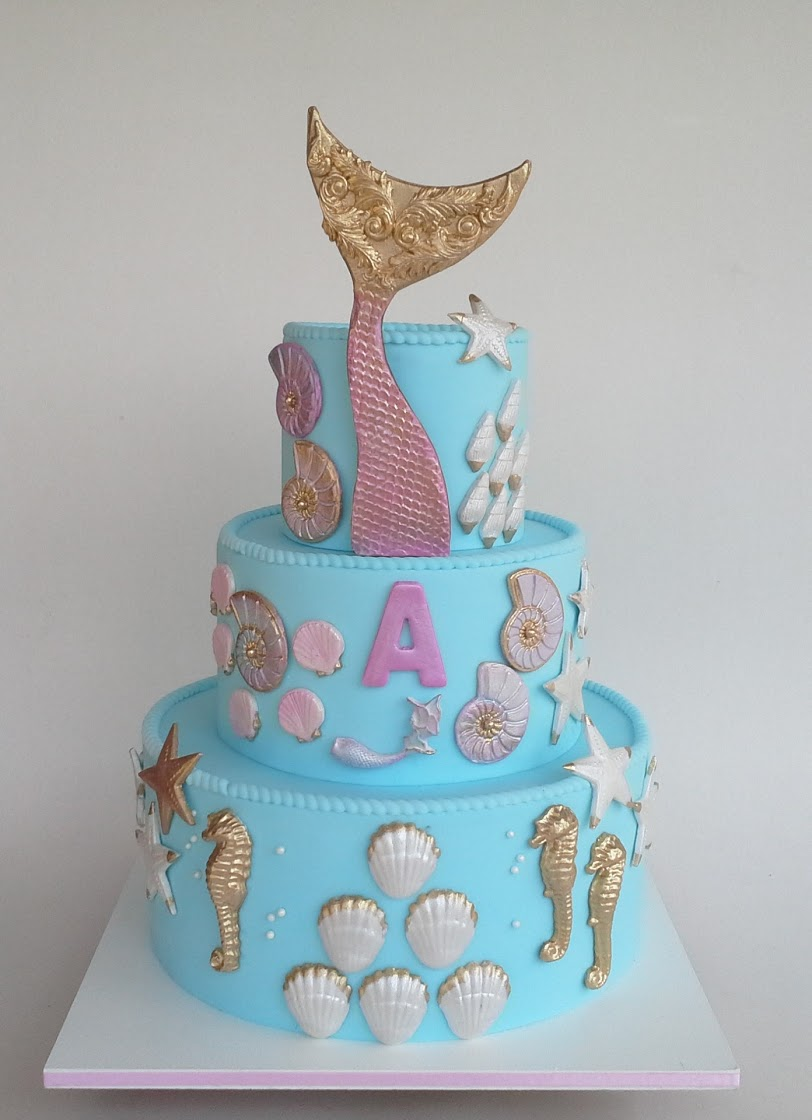Blue and pink under the sea mermaid birthday