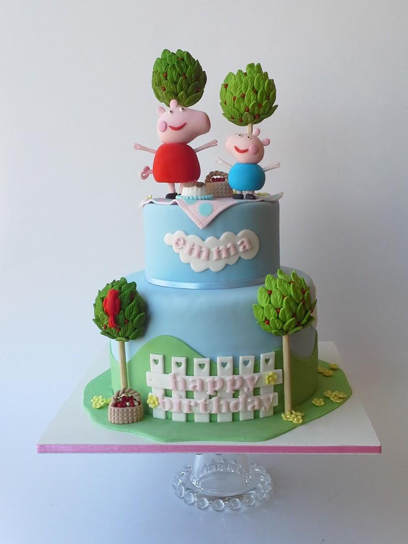 Peppa the pig birthday cake