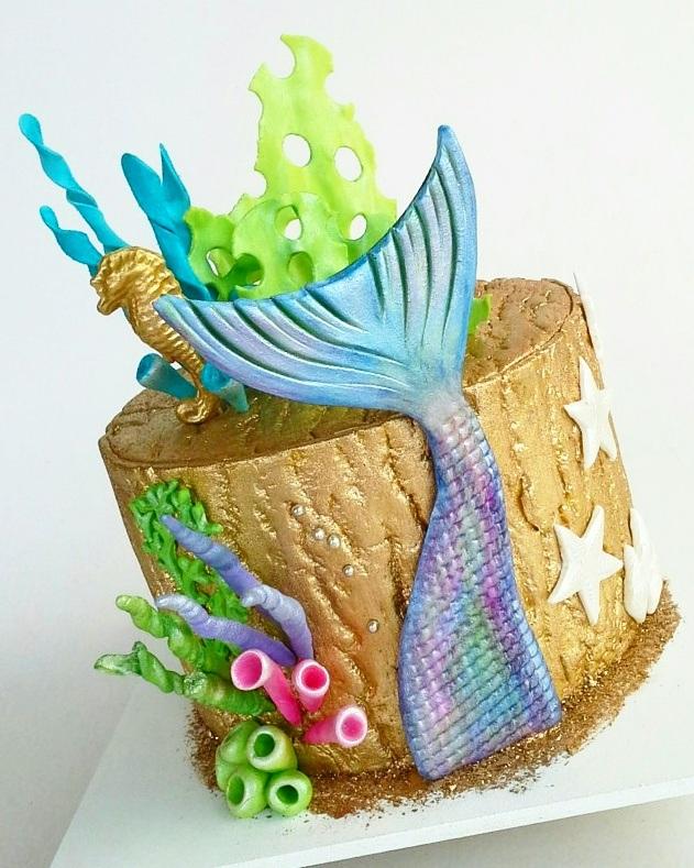 Mermaid tale mini birthday cake