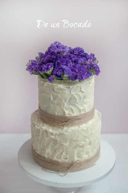 Purple Sugar Flower Wedding