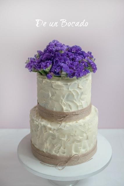 Purple Sugar Flower Wedding