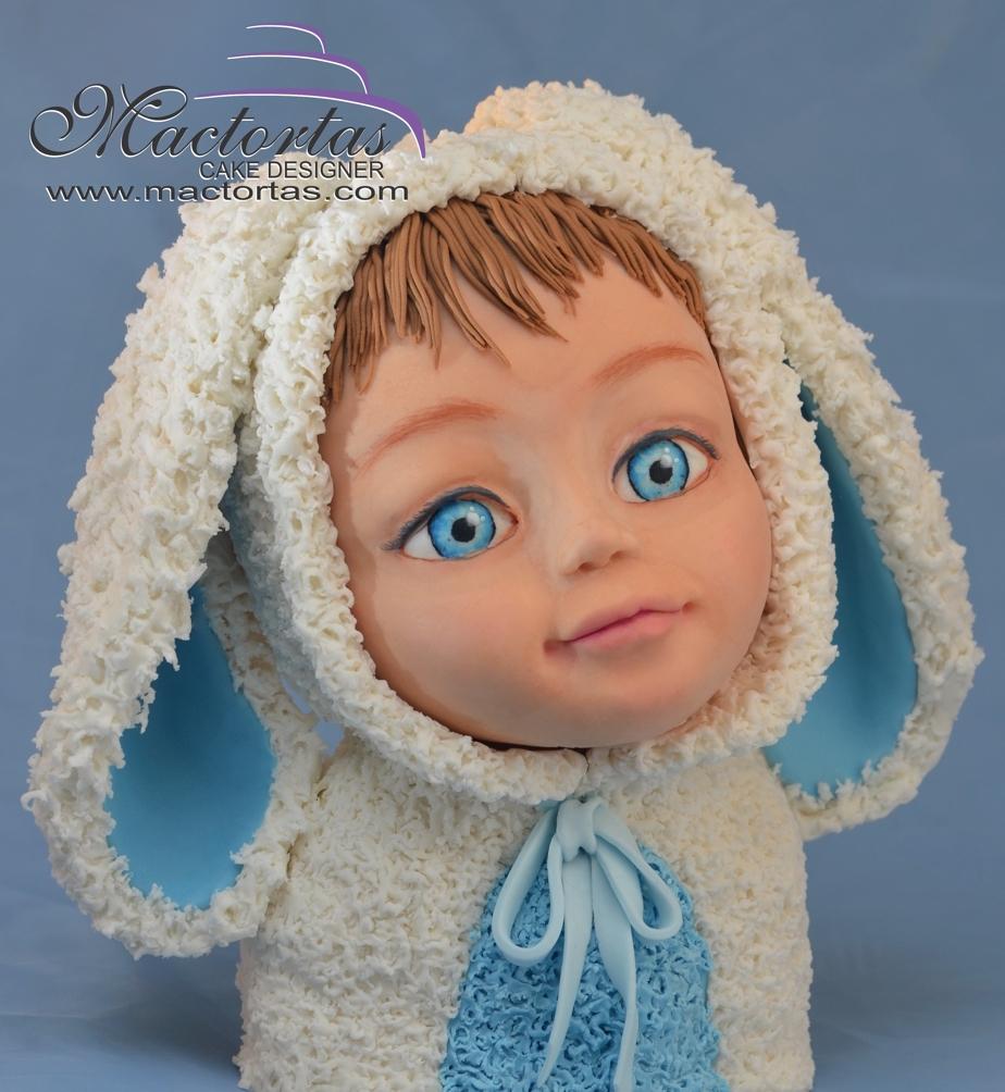 Little boy in bunny costume