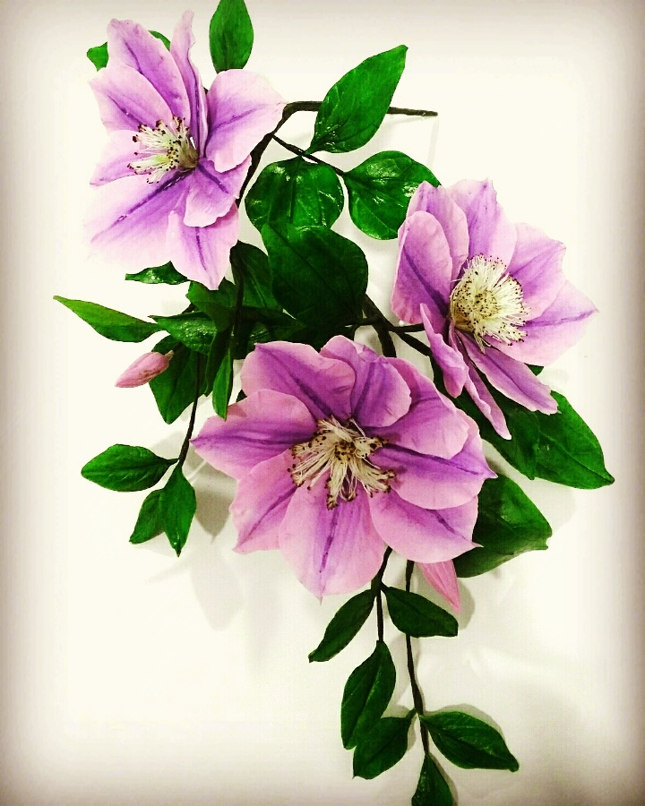 Purple sugar flowers