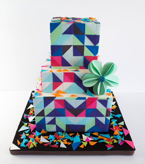 Geometric Square Tiered