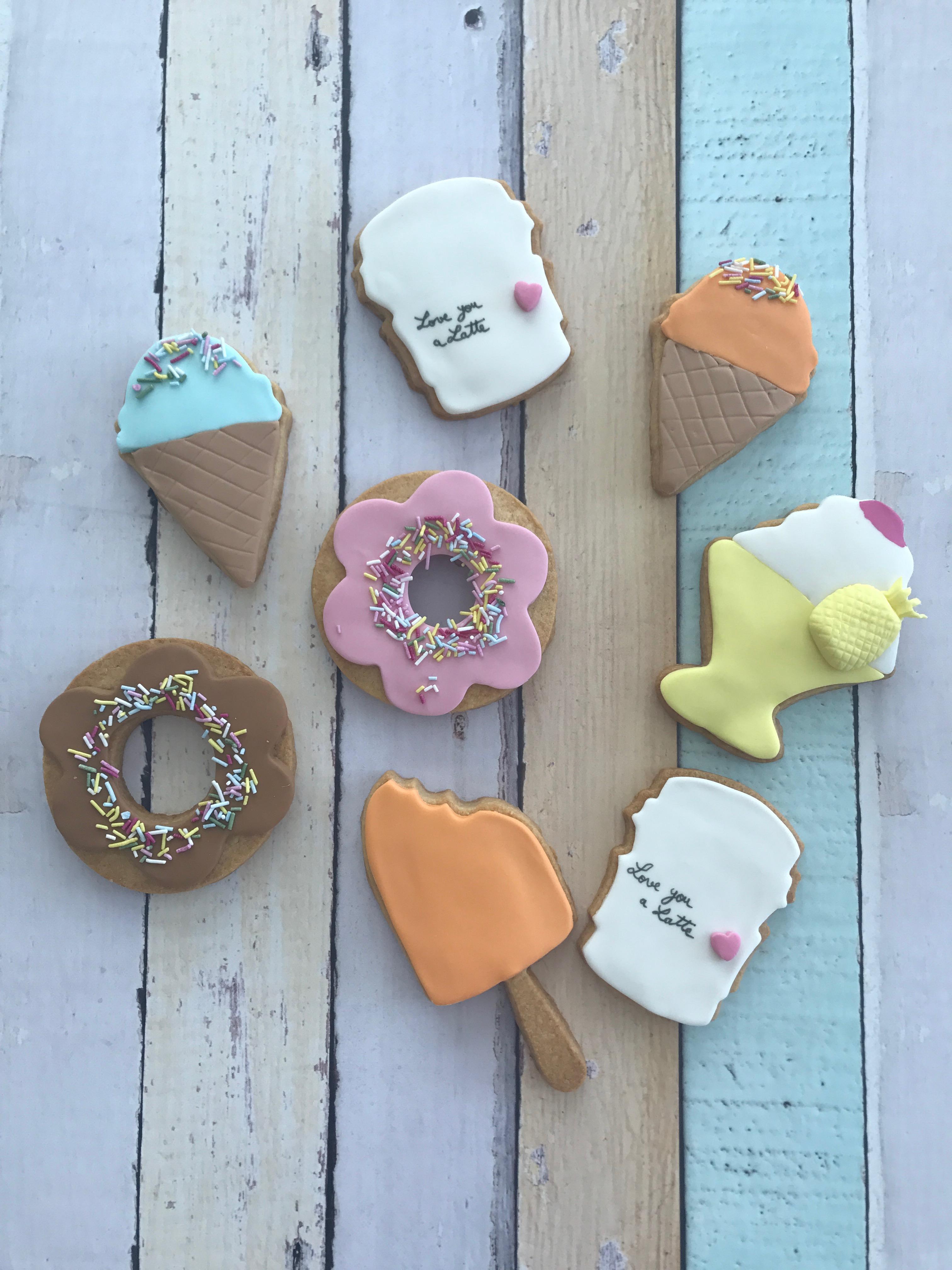 Fondant Ice Cream Cookies