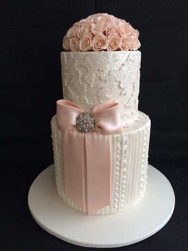 Wedding Bow Cake