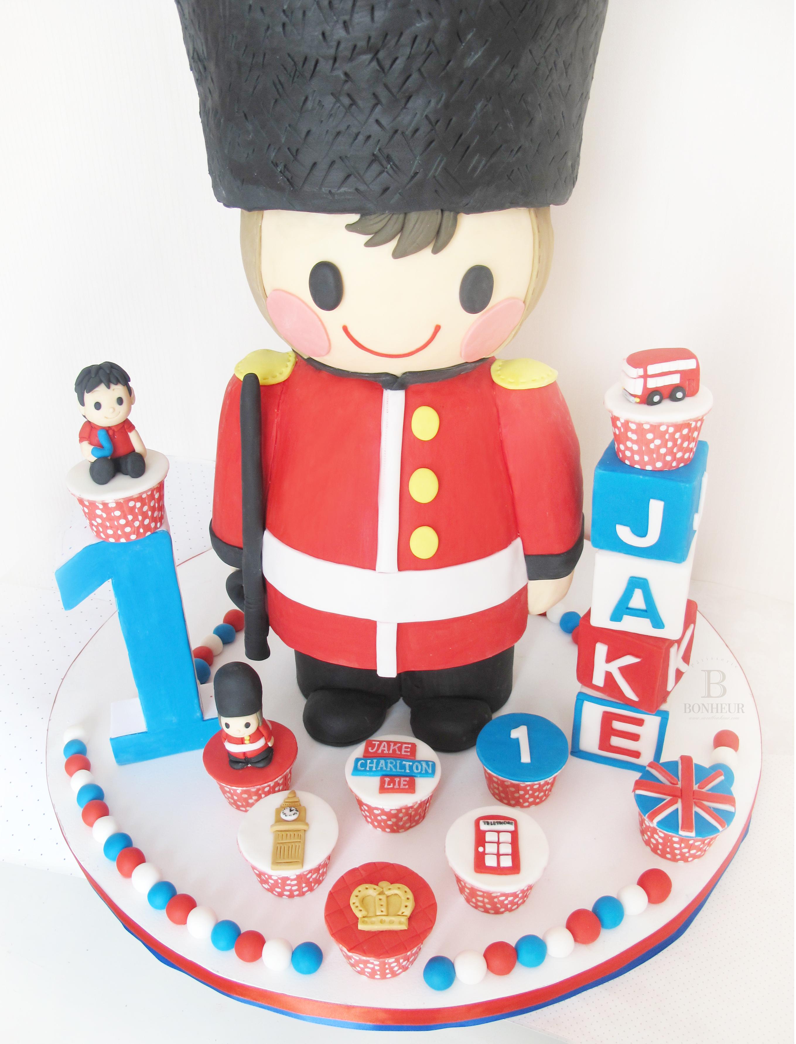 Nutcracker birthday cake and cupcakes