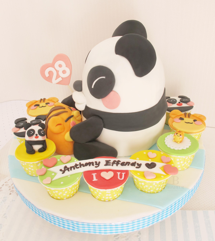 Koala cake and cupcakes