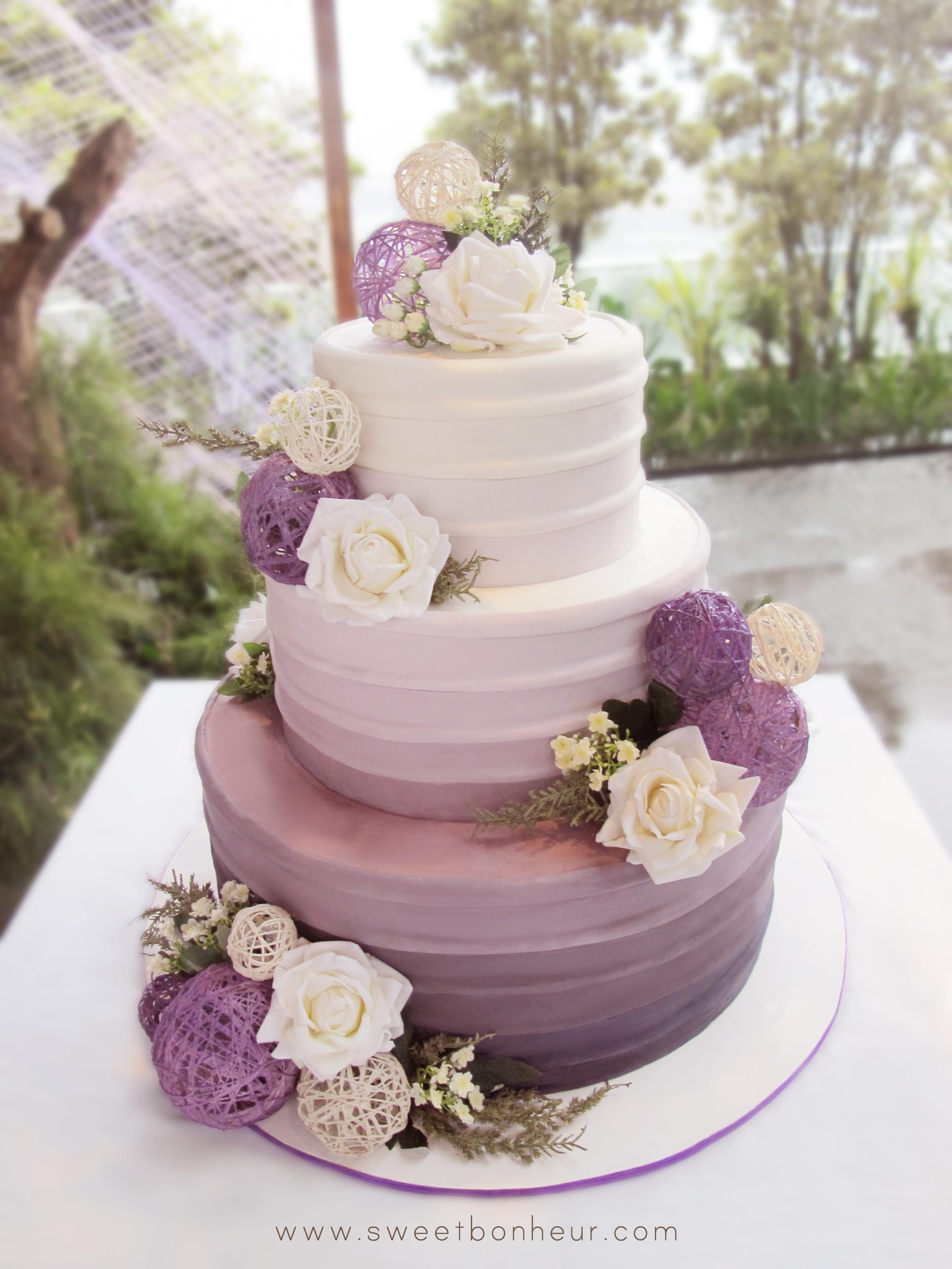 Purple Ombre Wedding