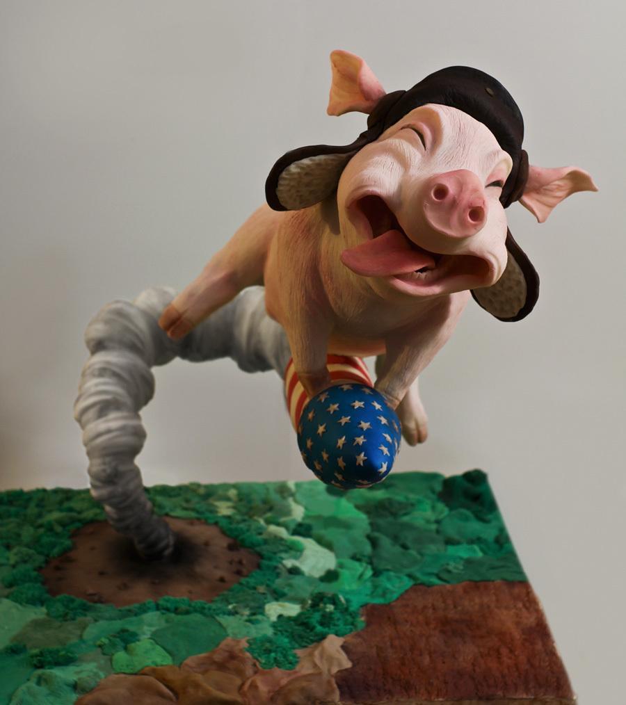 Gravity Defying Flying Pig