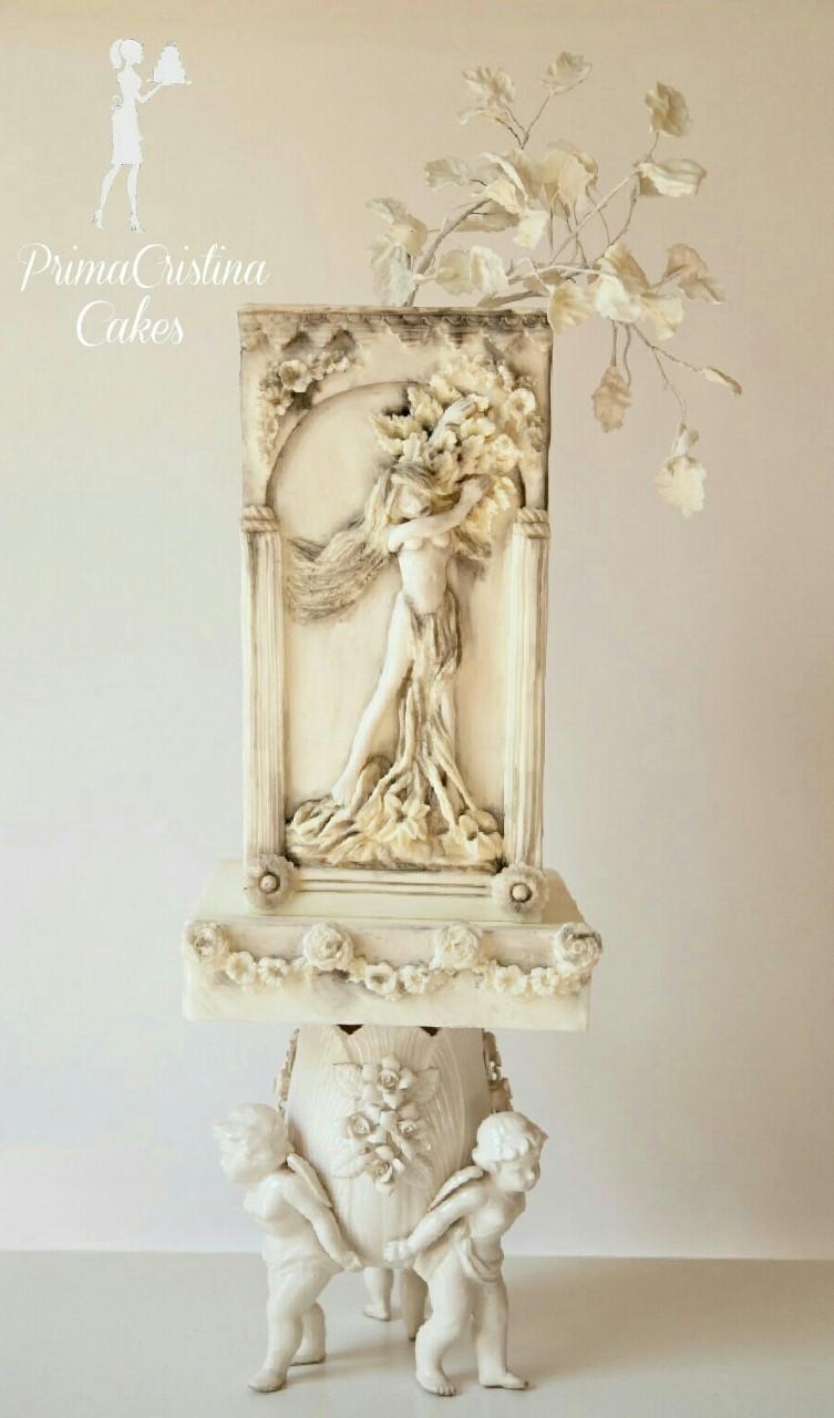 Ivory Grecian Statue Cake