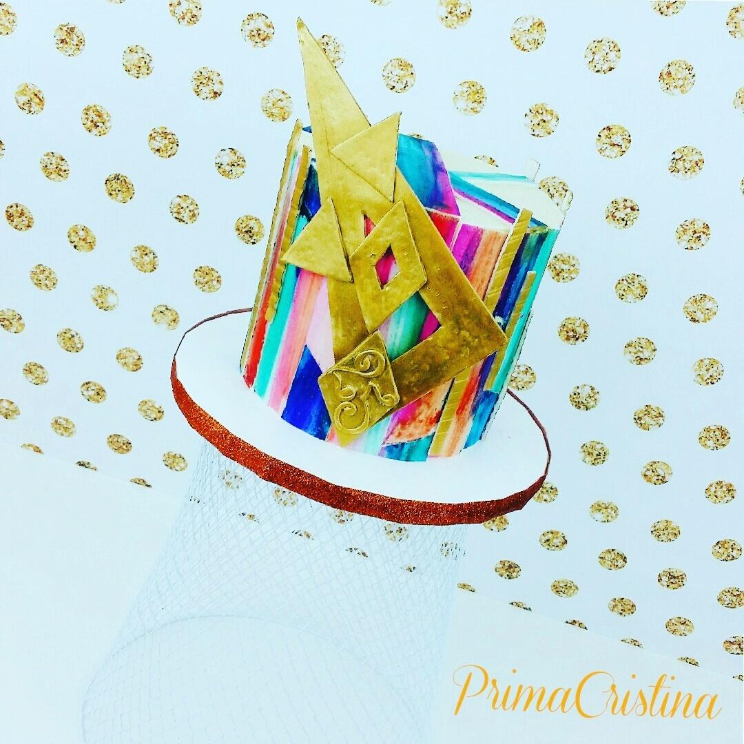 Striped Mini geometric Cake