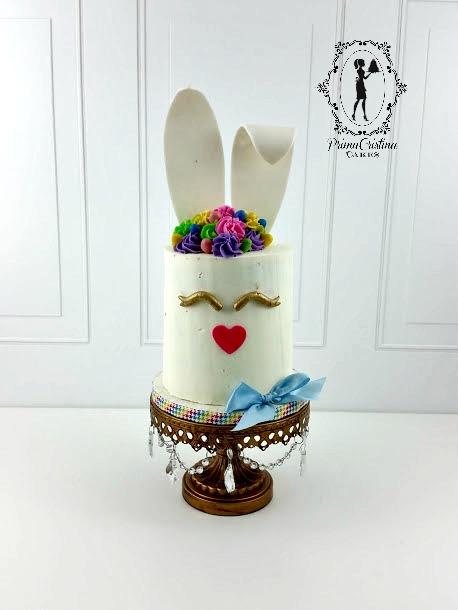 White bunny cake