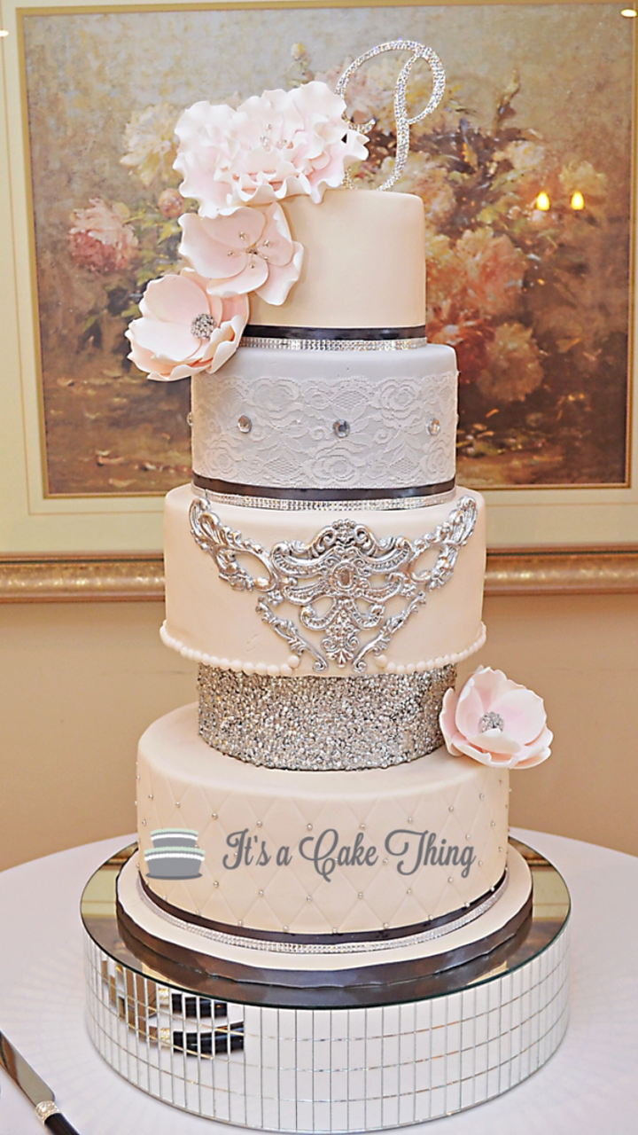 Light pink and Silver wedding