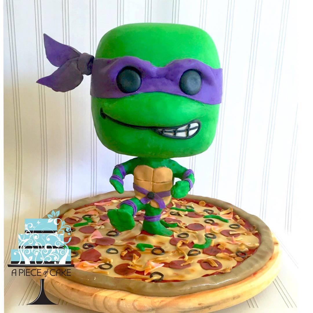 Ninja Turtle Pizza Birthday cake