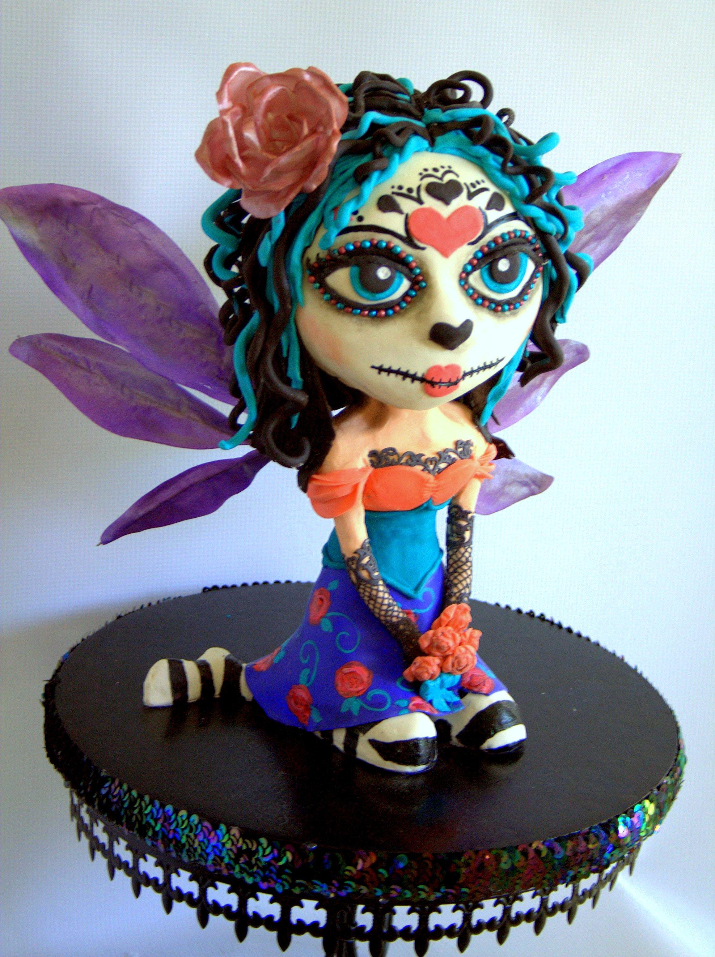 Fairy Sugar Skull Figurine