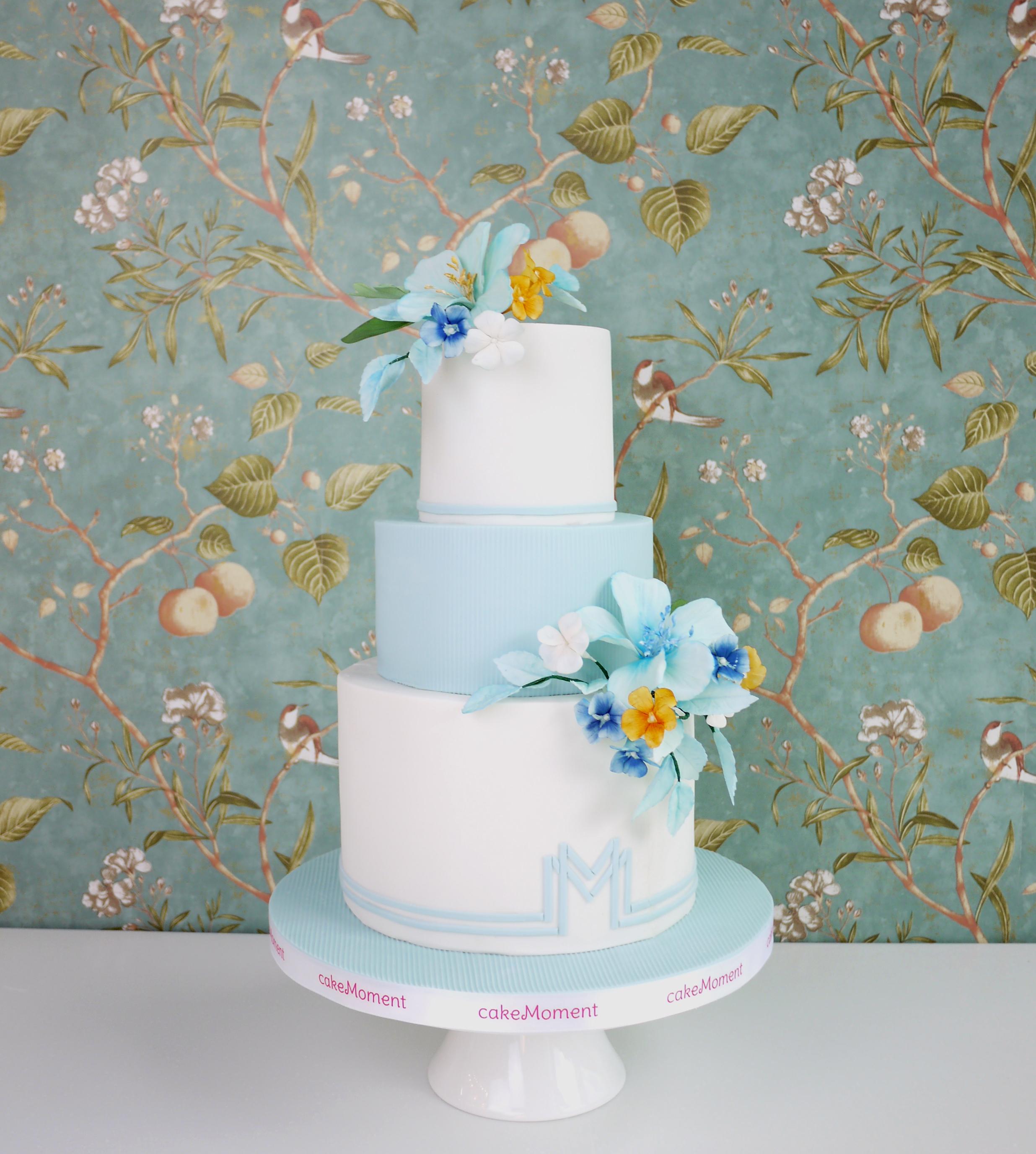 Light blue and white wedding