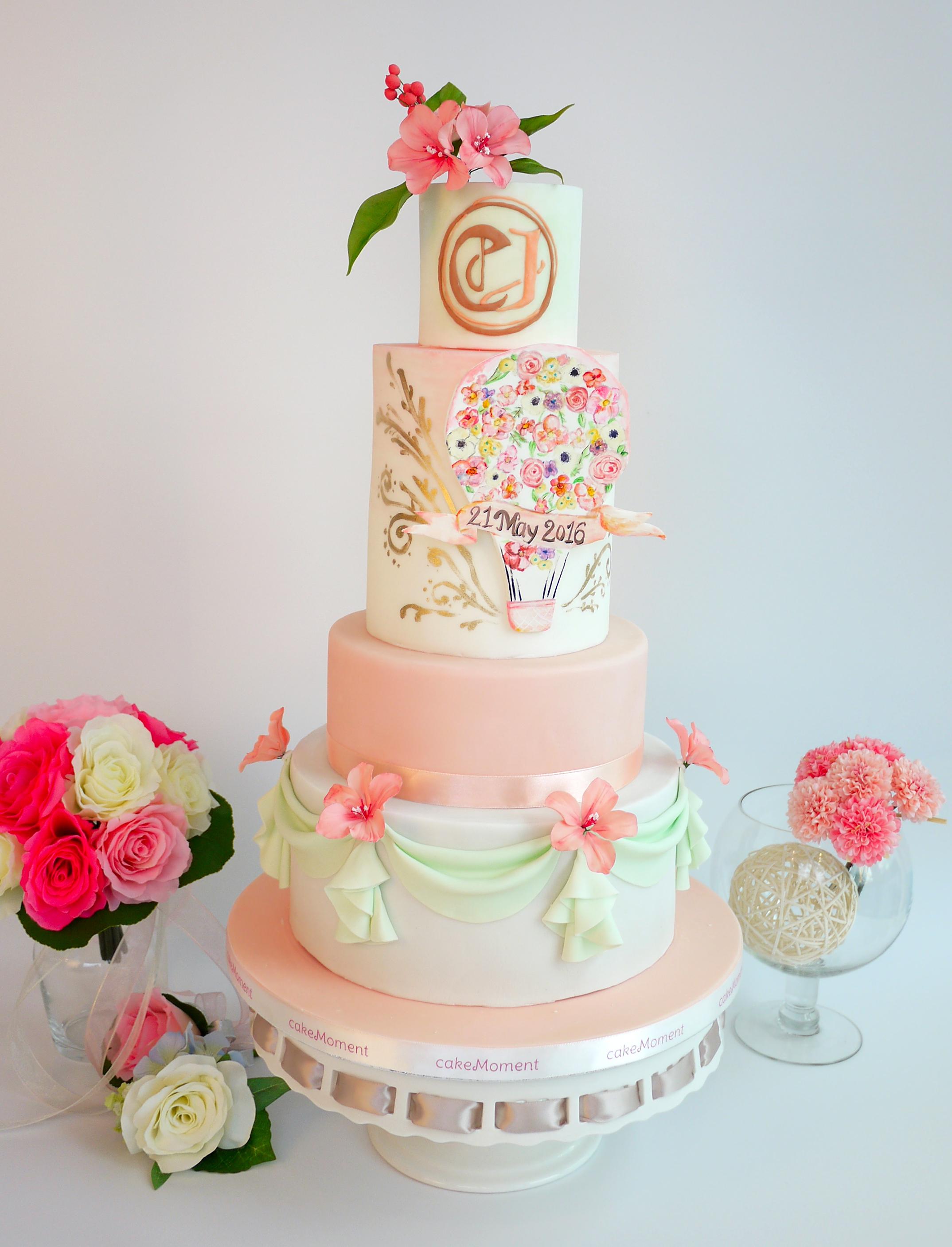 Pink & White Balloon wedding