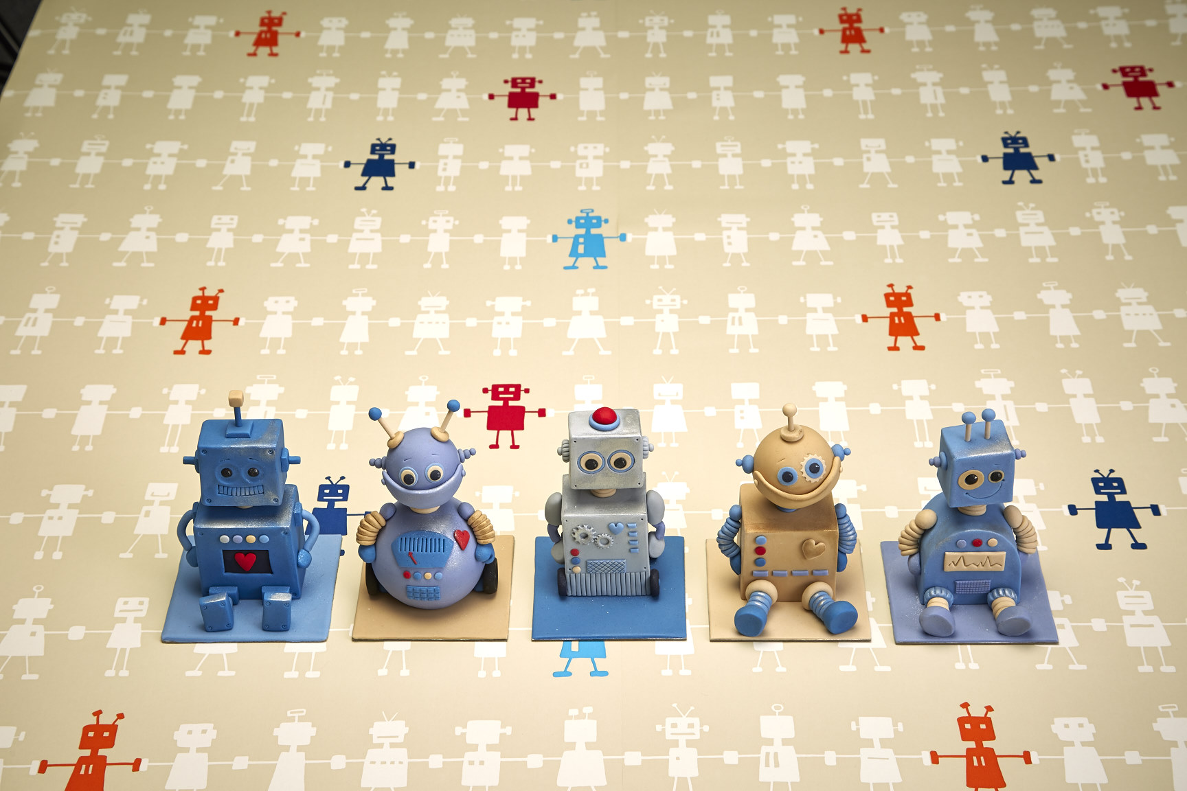 Mini Robot fondant figurines