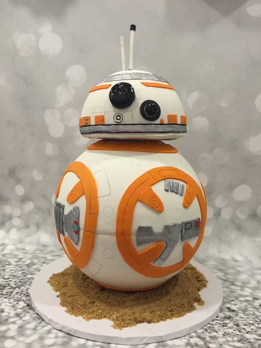 star wars robot bb8 cake