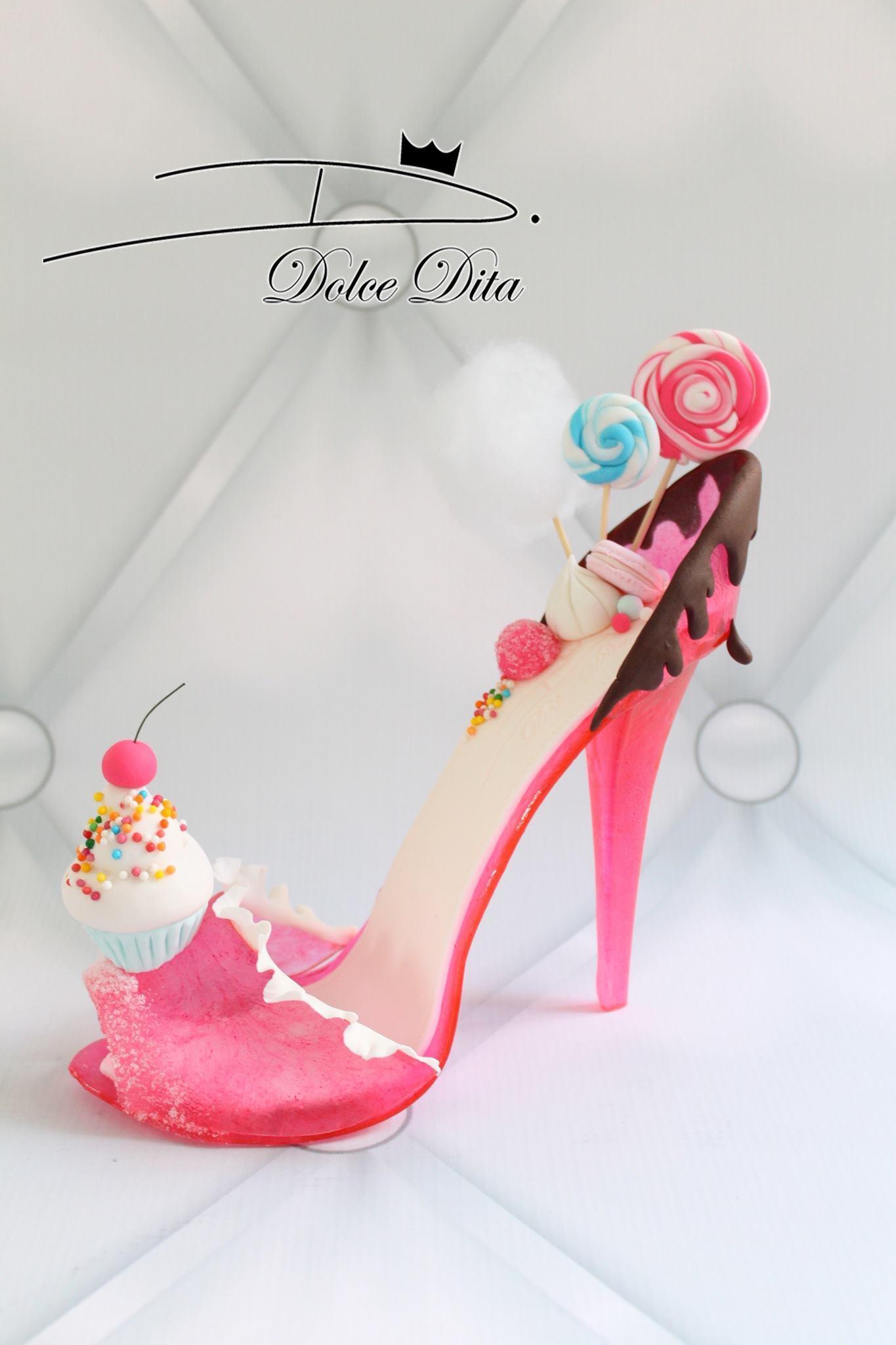 Ice cream themed gum paste shoe