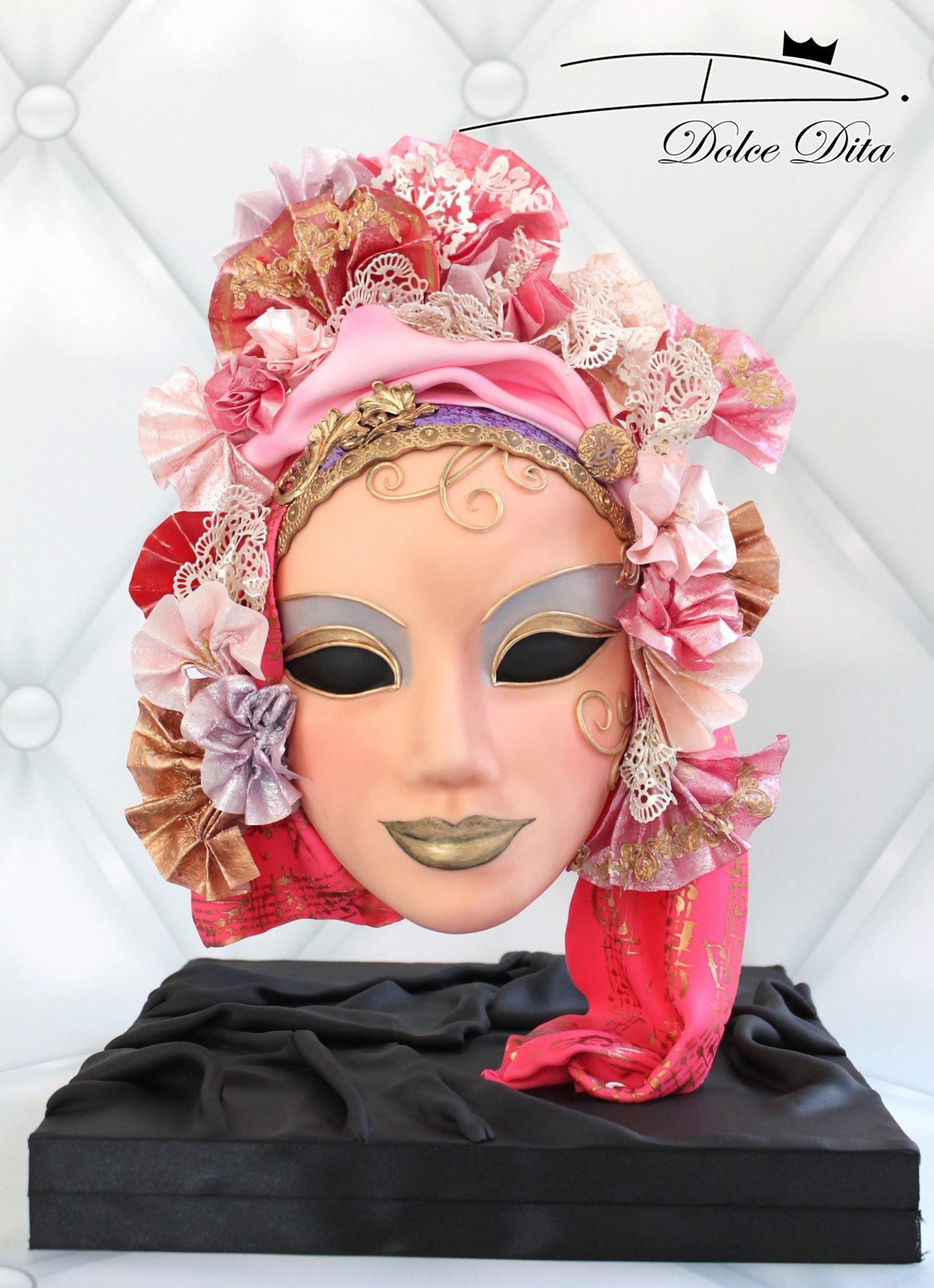 Fondant Venetian Mask
