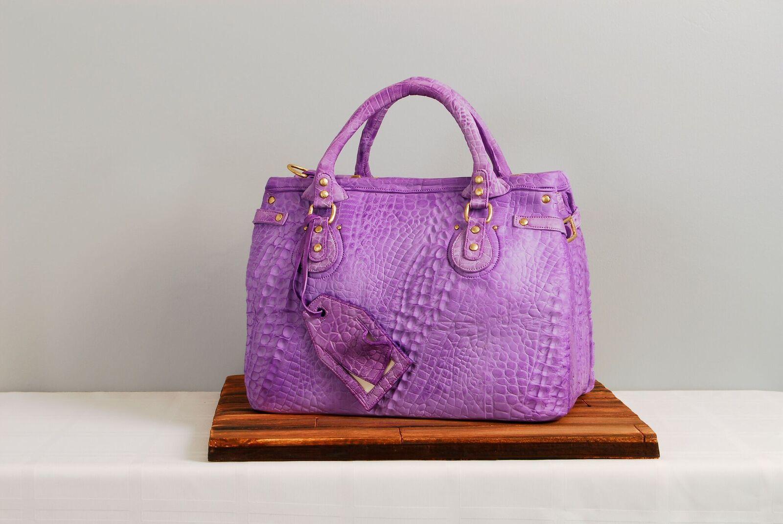 Purple handbag cake