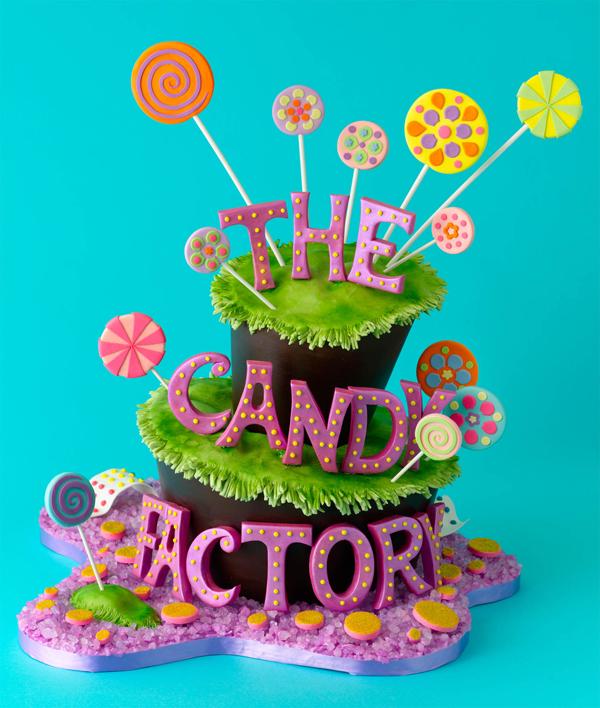 Topsy Turvy Candy Cake