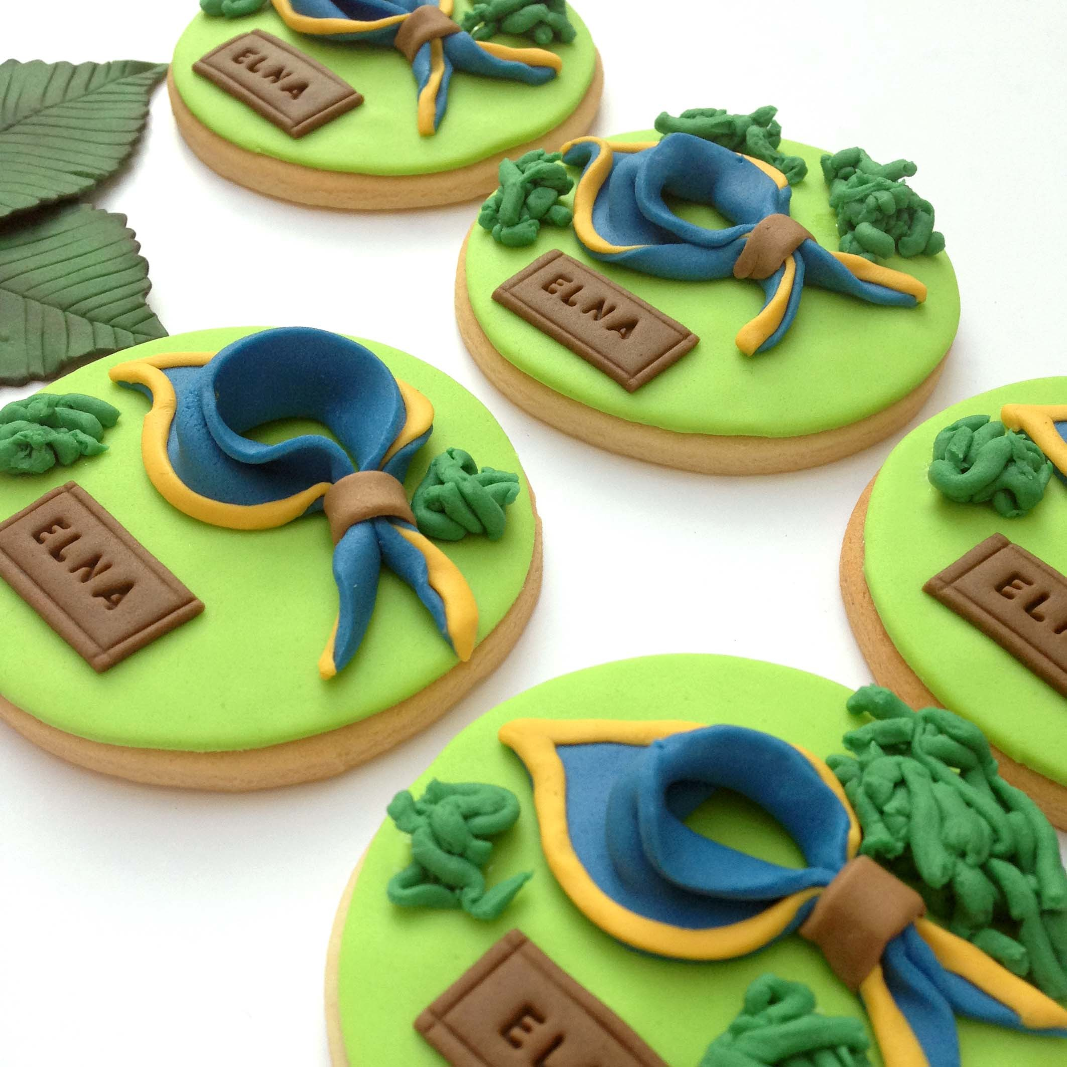 Boy Scout Fondant Cookies