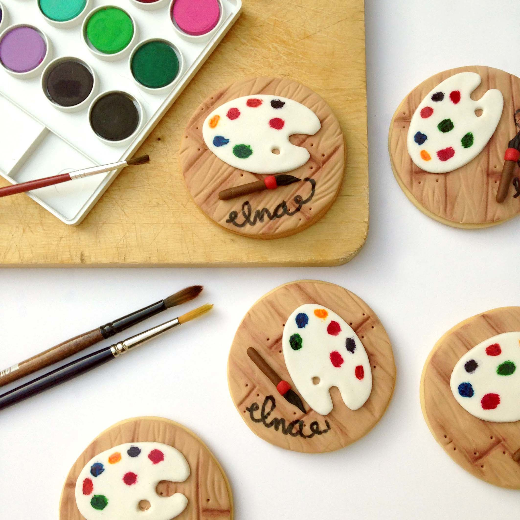 Fondant Artist Palette Cookies