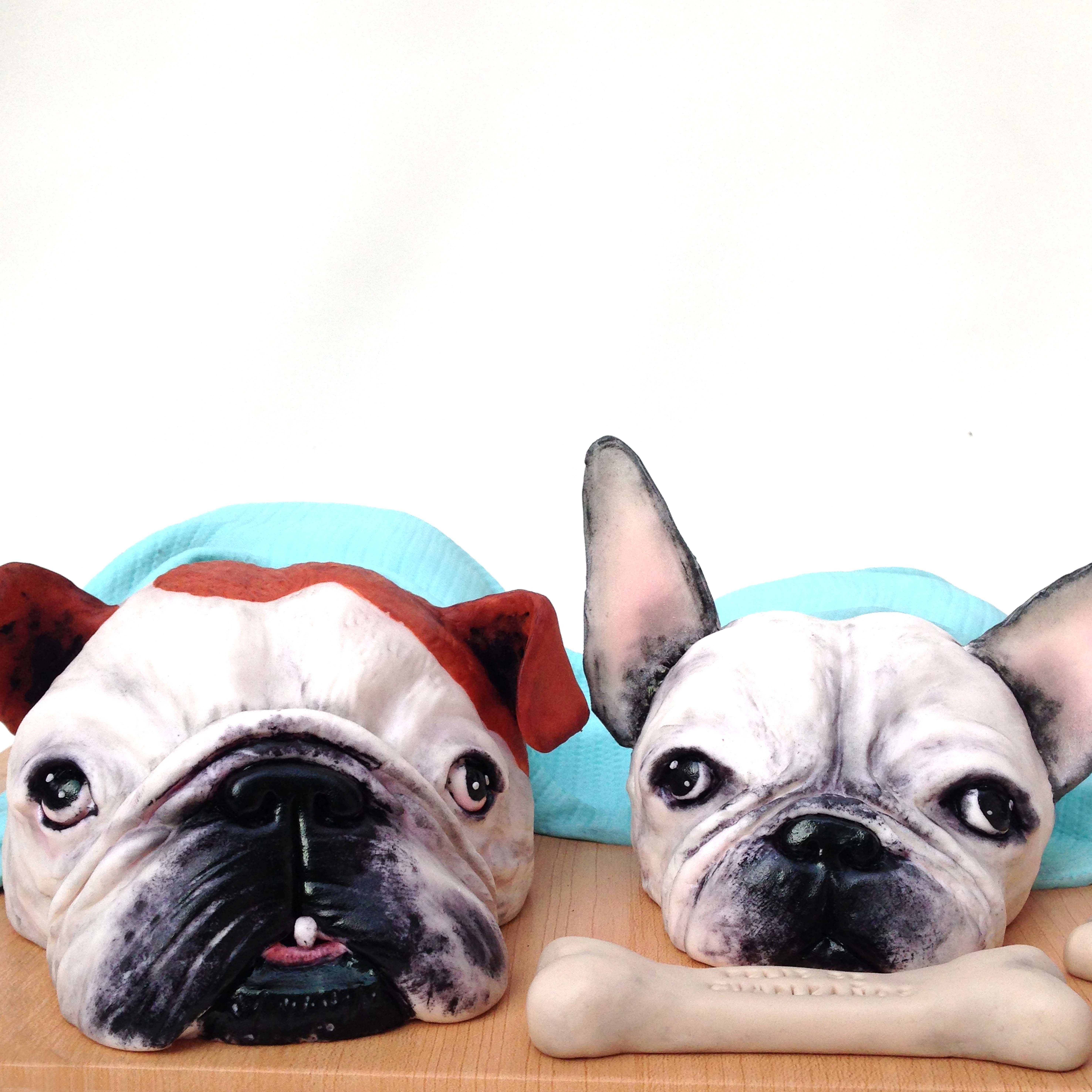 Sculpted Pug Dogs