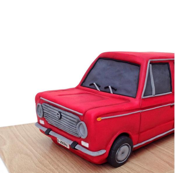 Sculpted Red Car
