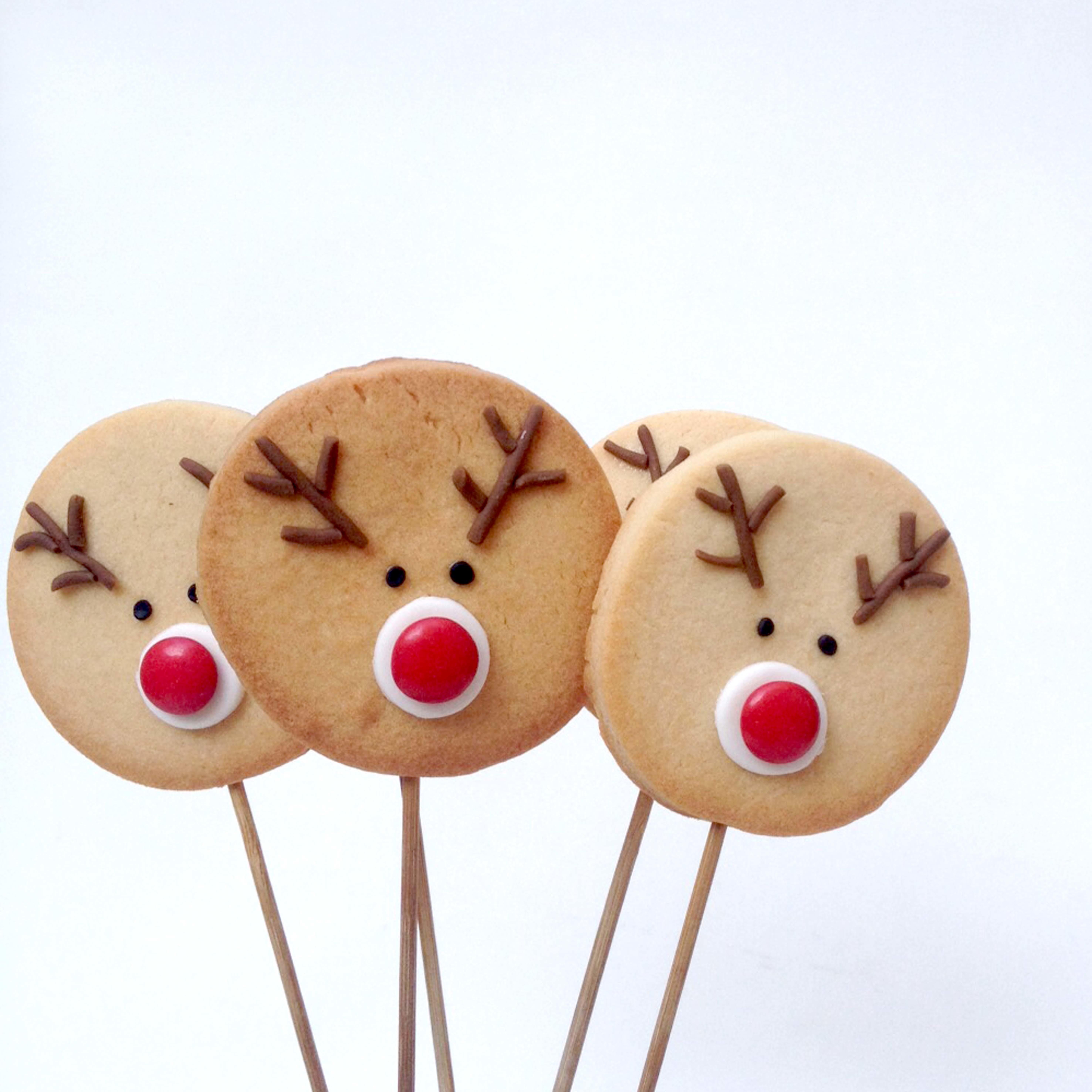 Fondant Christmas Reindeer Cookies