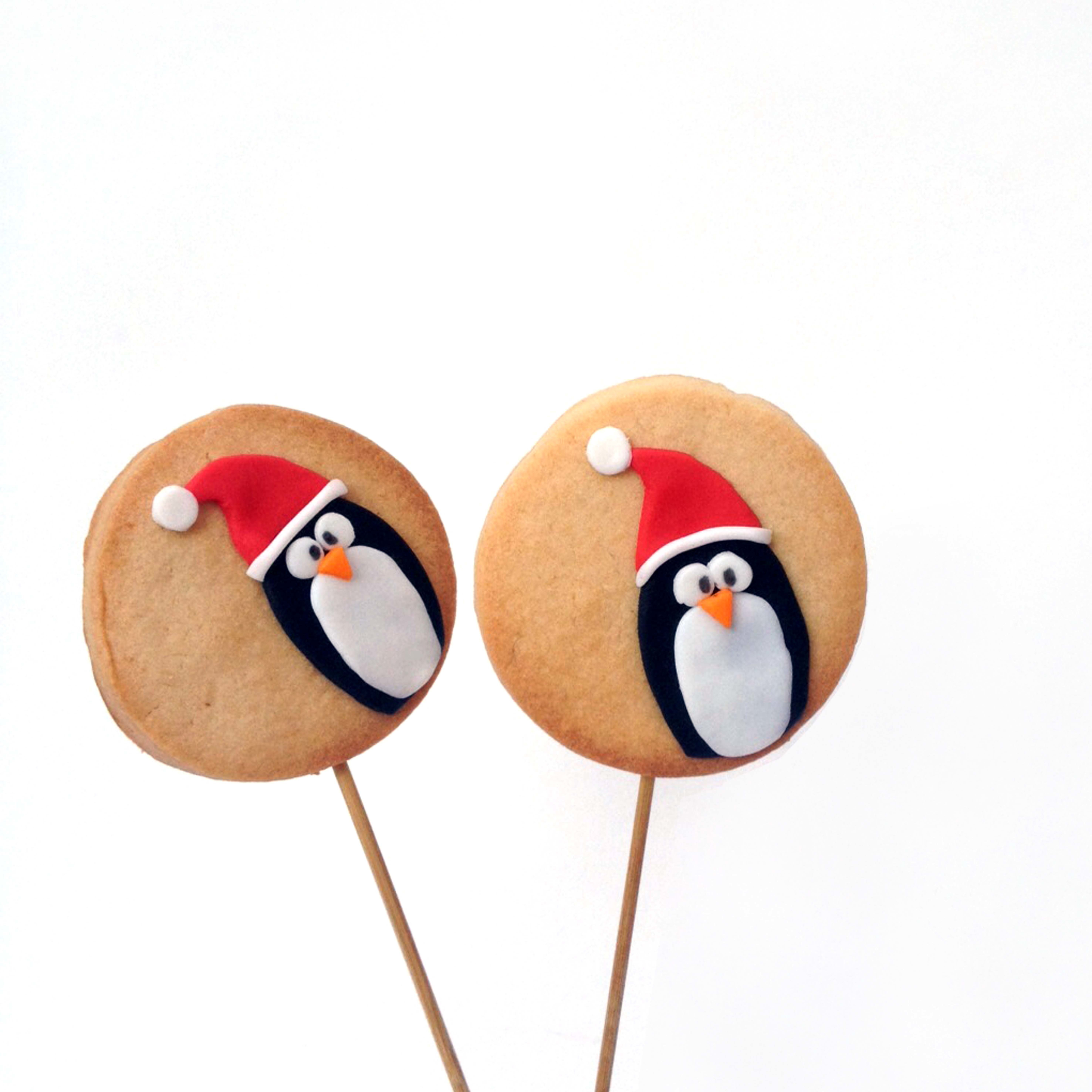 Fondant Christmas Penguin Cookies