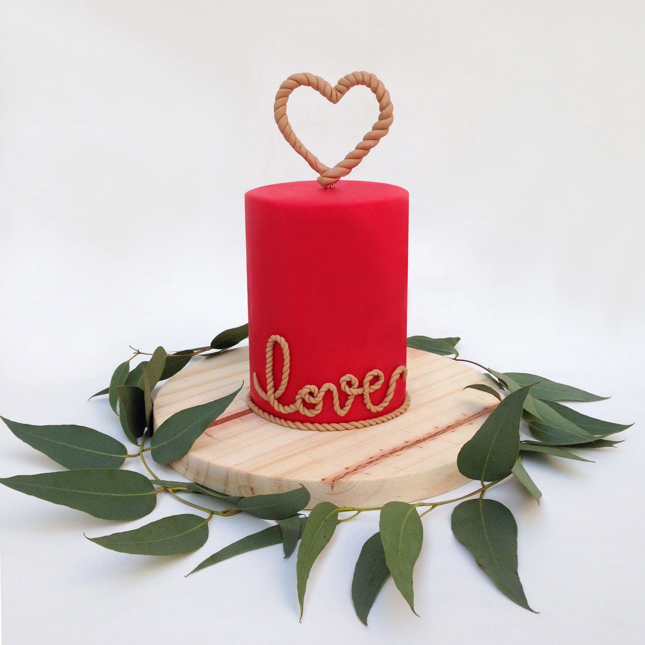 Candle Christmas Cake