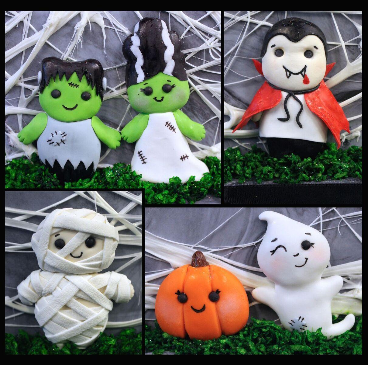Halloween fondant figures