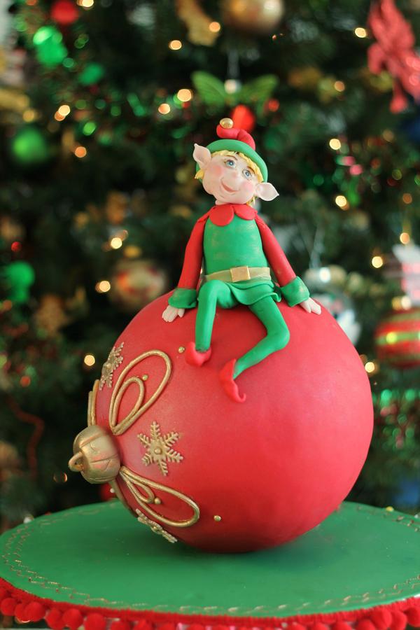Elf on Ornament