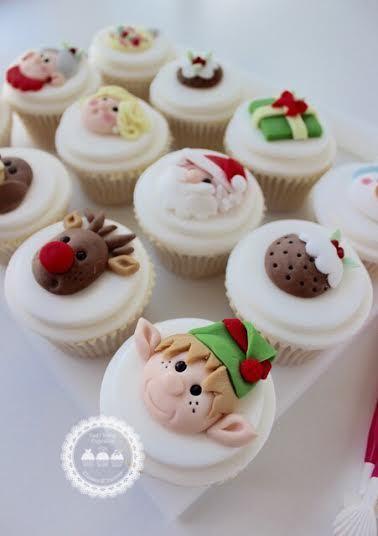 Santa & Elves Cupcake Toppers