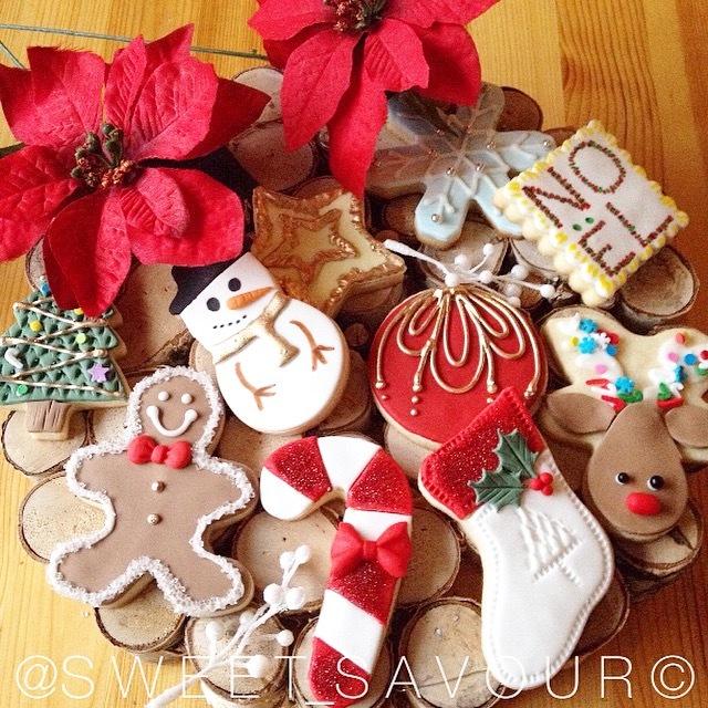 Fondant Christmas Cookies