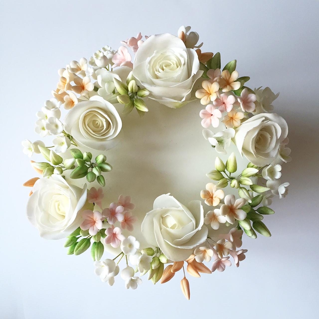 Sugar Flower Wreath Wedding
