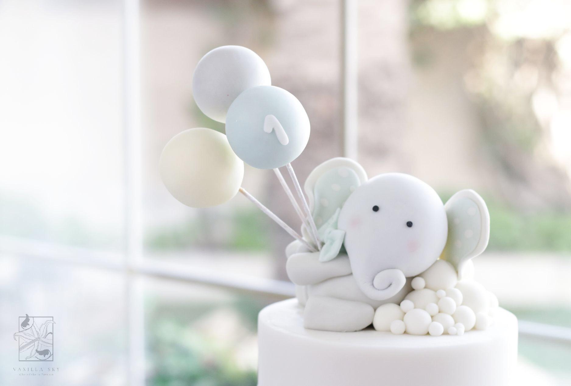 First birthday elephant cake